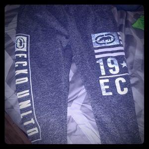 Grey Ecko sweatpants, worn a few times, very warm